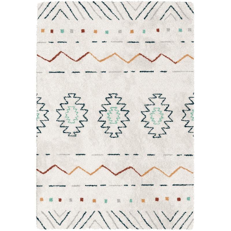 Tapis shaggy à motif ethnique - dessins colorés - 160x230cm - SHERPA BALTA