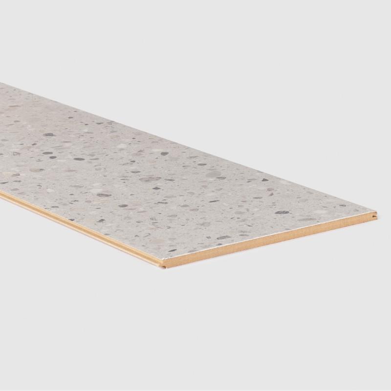 Palier Stratifié assorti Terrazzo gris 156 - Concept d'escalier Maëstro Steps