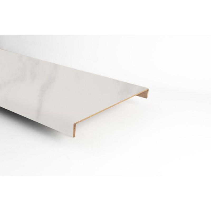 Marche stratifiée double XXL Marbre blanc 153 - Concept d'escalier Maëstro Steps