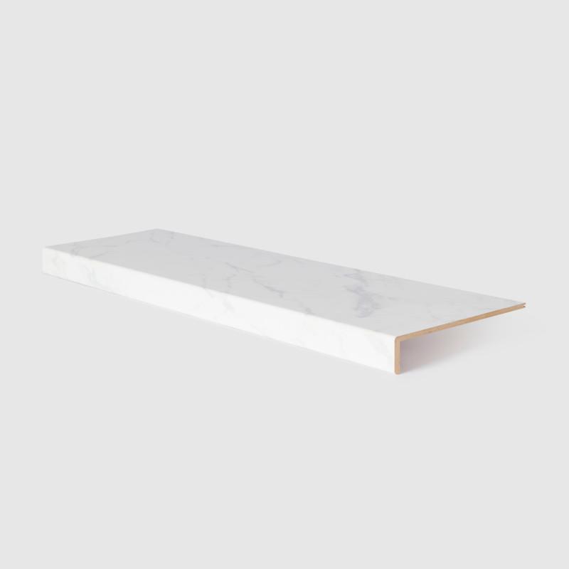Marche stratifiée Marbre blanc 153 - Concept d'escalier Maëstro Steps
