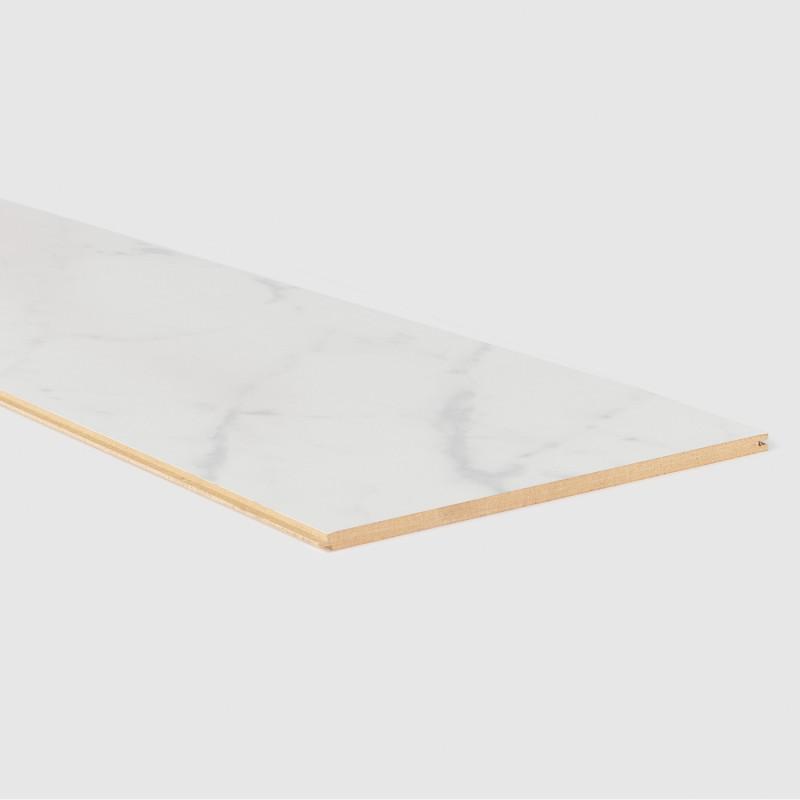 Palier Stratifié assorti Marbre blanc 153 - Concept d'escalier Maëstro Steps