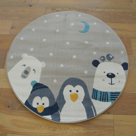"Tapis rond ""Winter Family"" - Canvas BALTA Diam.120"