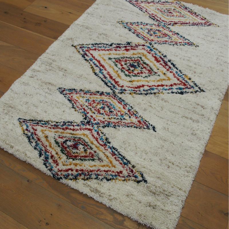 Tapis shaggy motif berbère coloré - 120x170cm - SHERPA BALTA