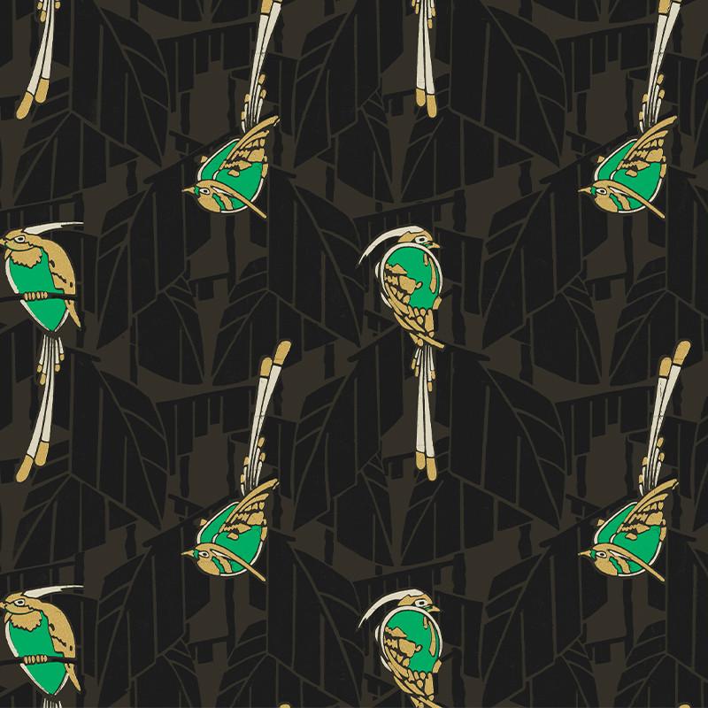 Papier peint Kardinal Emerald - FOLIES - Khrôma by Masureel - FOL601