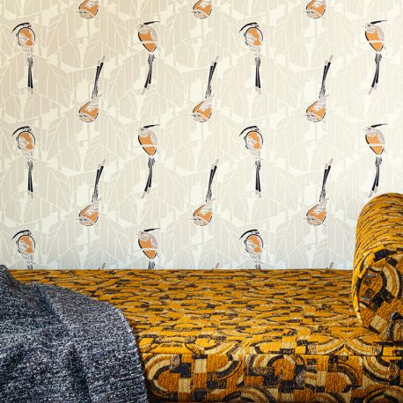 Papier peint Kardinal Gold - FOLIES - Khrôma by Masureel - FOL605