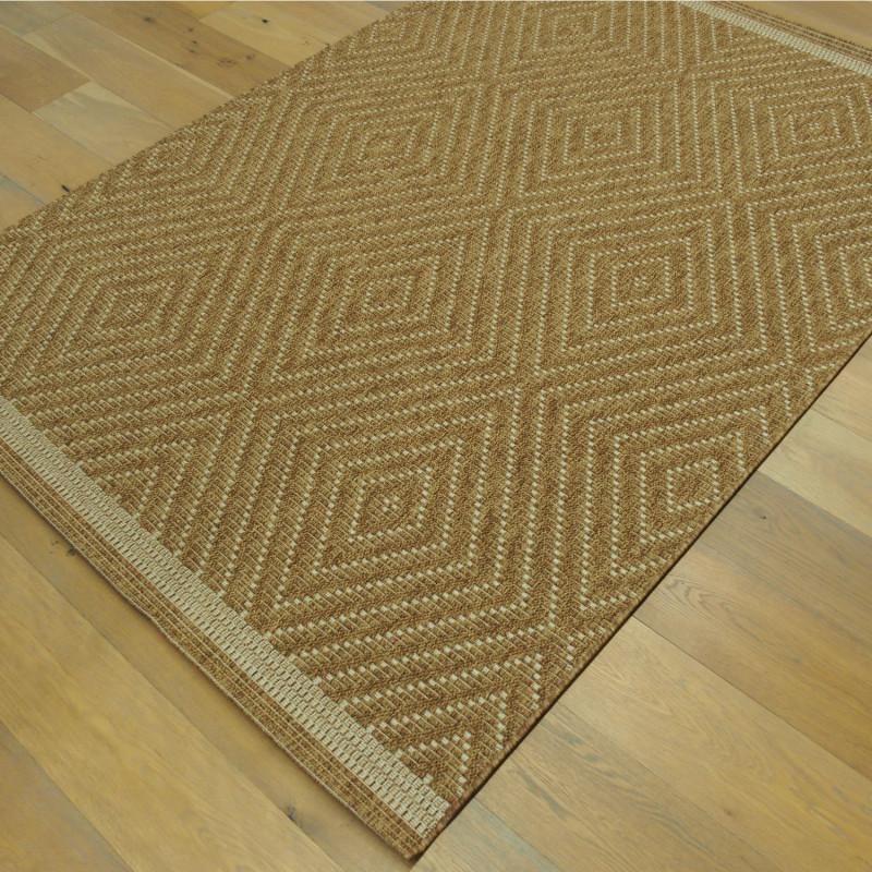 Tapis corde losanges camel - Grace BALTA - 160x230