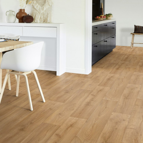 Sol PVC - Fumed oak light brown - Iconik Resistex TARKETT - rouleau 4M