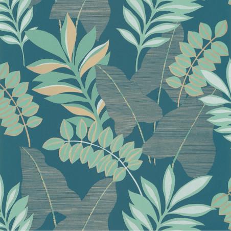 Papier peint Voyage bleu nuit et doré - L'ESCAPADE - Caselio - EPA102326618