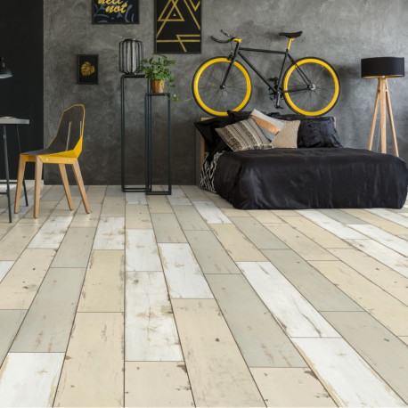 Sol stratifié patchwork bois beige Brave D4782 UL - Exquisit KRONOTEX