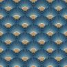 Papier peint intissé PALMETTES art déco bleu et or - Rasch