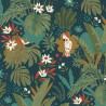 Papier peint intissé CACATOES jungle multicolore - Rasch 460667