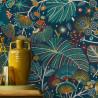 Papier peint intissé EVENTAILS feuillage multicolore - Rasch 461862