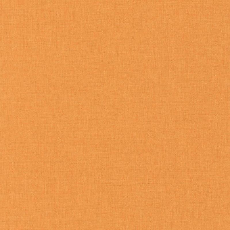 Papier peint Linen Uni orange moyen - LINEN - Caselio - INN68523187