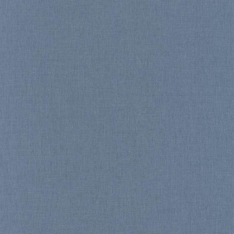 Papier peint Uni bleu foncé - LINEN - Caselio - INN68526460