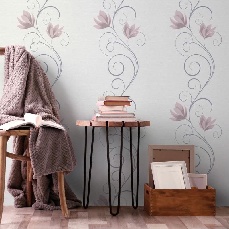 Papier peint Lotus et Spirale rose - Erismann - 10009-05