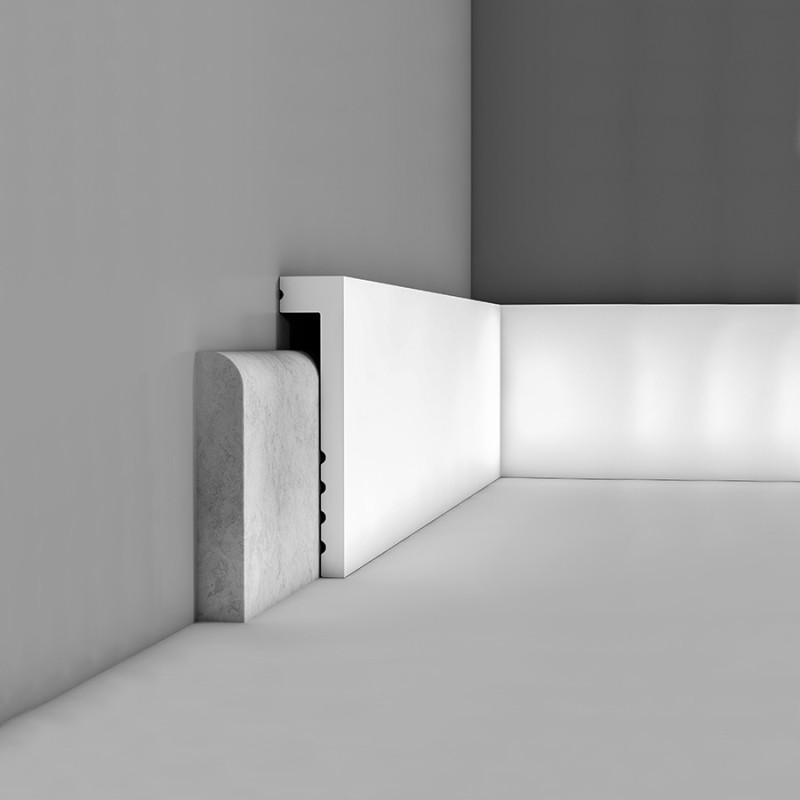 Plinthe Cover 2m - facile à peindre et résistante - CORETEC