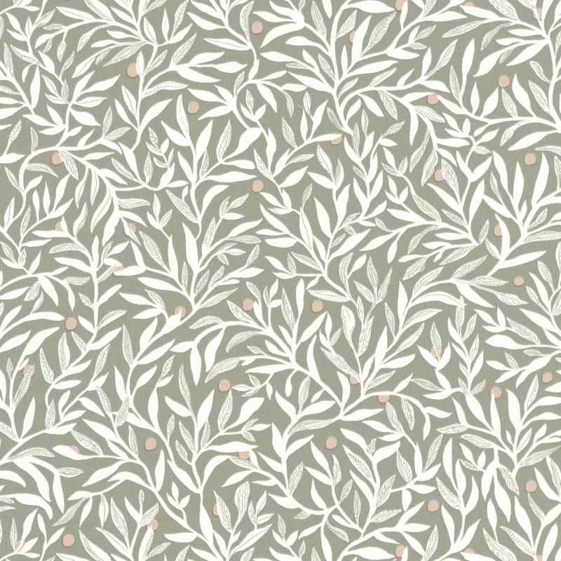 Papier peint Ballade vert blanc beige - L'ESCAPADE - Caselio - EPA102347070
