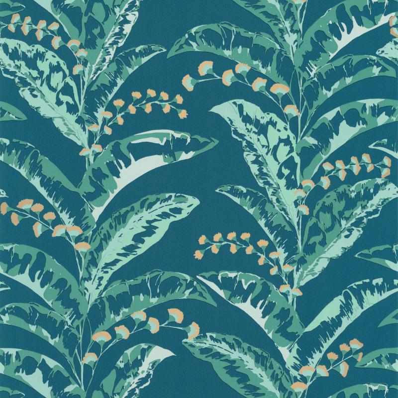Papier peint Epopée bleu canard et doré - L'ESCAPADE - Caselio - EPA102336733