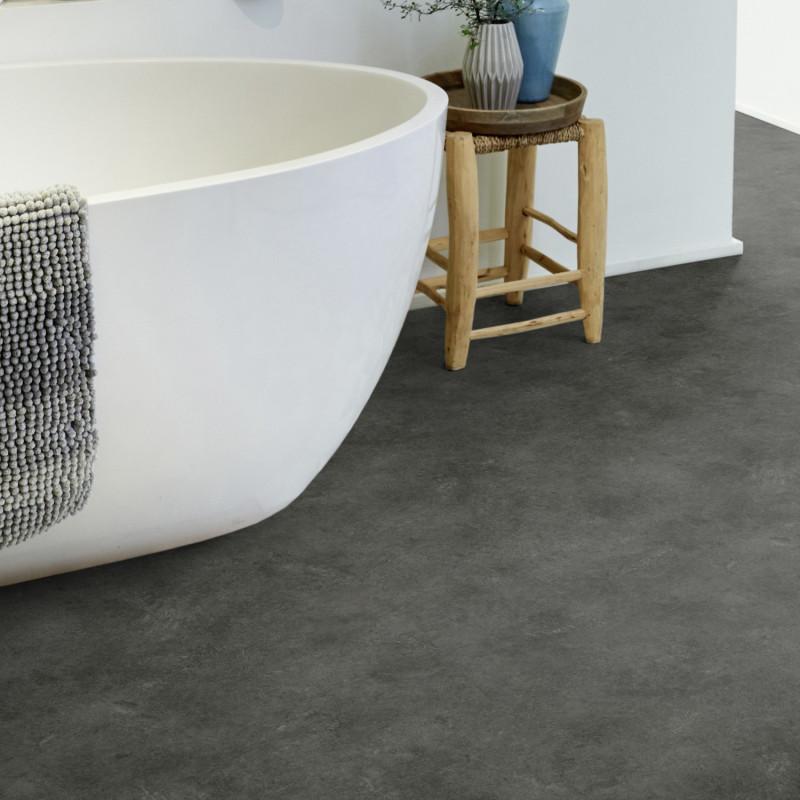Sol PVC - Maya noir - Iconik Confort TARKETT - rouleau 4M