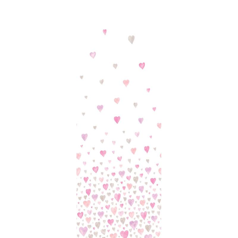 Panoramique Jetée de Cœurs rose et gris - ALICE et PAUL - Casadeco - AEP28184203