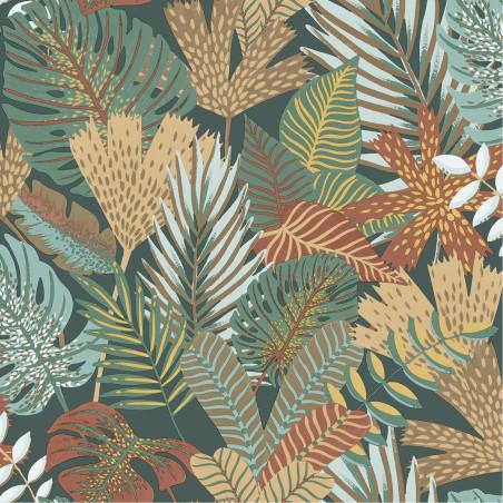 Papier peint vinyle sur intissé Foliage vert et ocre - EDEN - Ugepa - M36904