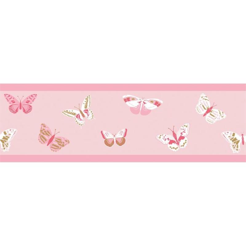 Frise enfant Butterfly rose fuchsia - GIRL POWER - Caselio - GPR100894234