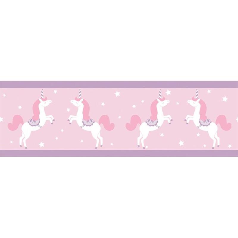 Frise enfant Unicorns parme - GIRL POWER - Caselio - GPR100905010