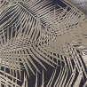 Papier peint vinyle sur intissé Palmier Retro doré, fond noir - EDEN - Ugepa - J98202