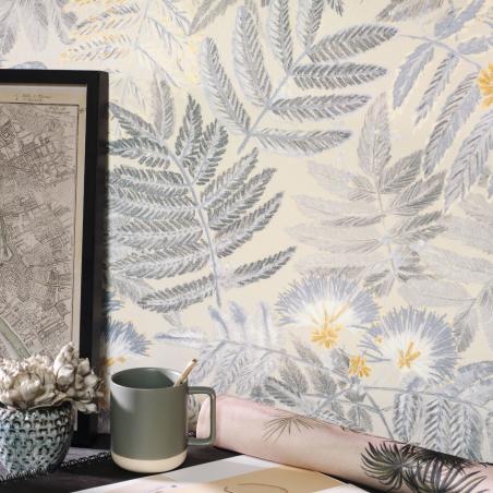 Papier peint Albizia beige lin - BOTANICA - Casadeco - BOTA85891423