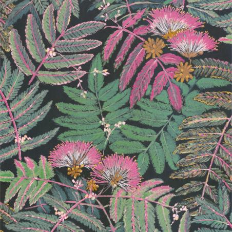 Papier peint Albizia rose vert forêt - BOTANICA - Casadeco - BOTA85897490