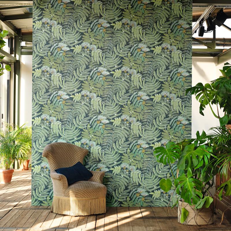 Papier peint Albizia vert menthe - BOTANICA - Casadeco - BOTA85897247