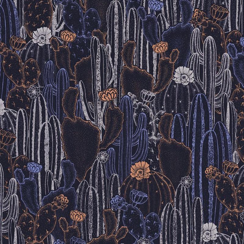 Papier peint Cactaceae violine - BOTANICA - Casadeco - BOTA85925236