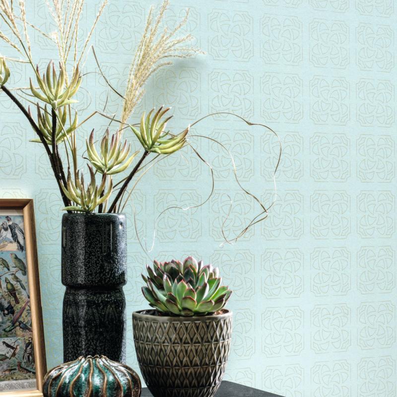 Papier peint Hortus bleu doux - BOTANICA - Casadeco - BOTA85936139