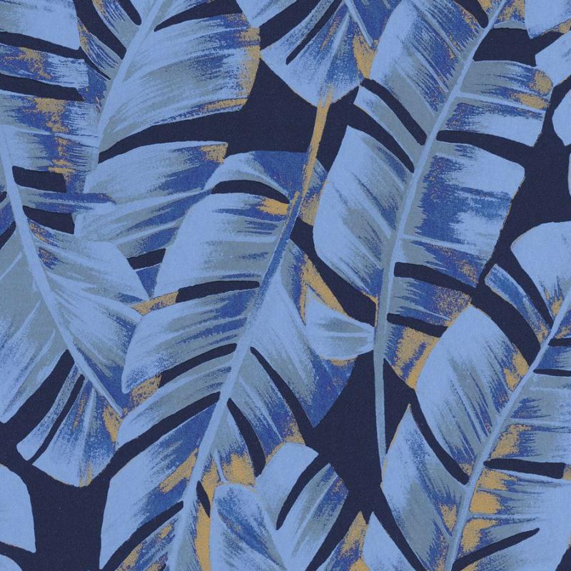 Papier peint Folium bleu encre - BOTANICA - Casadeco - BOTA85946755