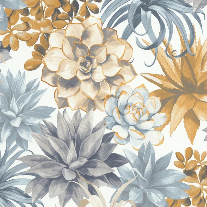 Papier peint Echeveria beige lin - BOTANICA - Casadeco - BOTA85911389