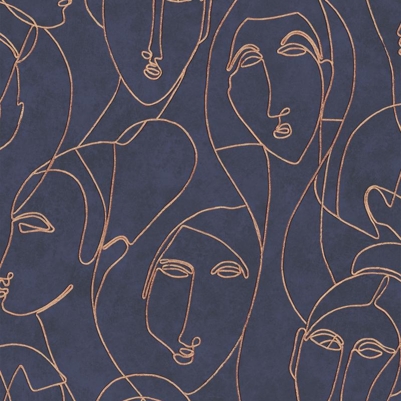 Papier peint Nefertiti Imperial - AGATHE - Khrôma by Masureel - AGA504