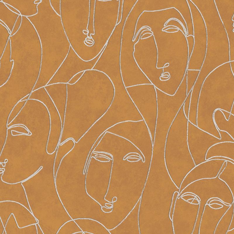 Papier peint Nefertiti Gold - AGATHE - Khrôma by Masureel - AGA503
