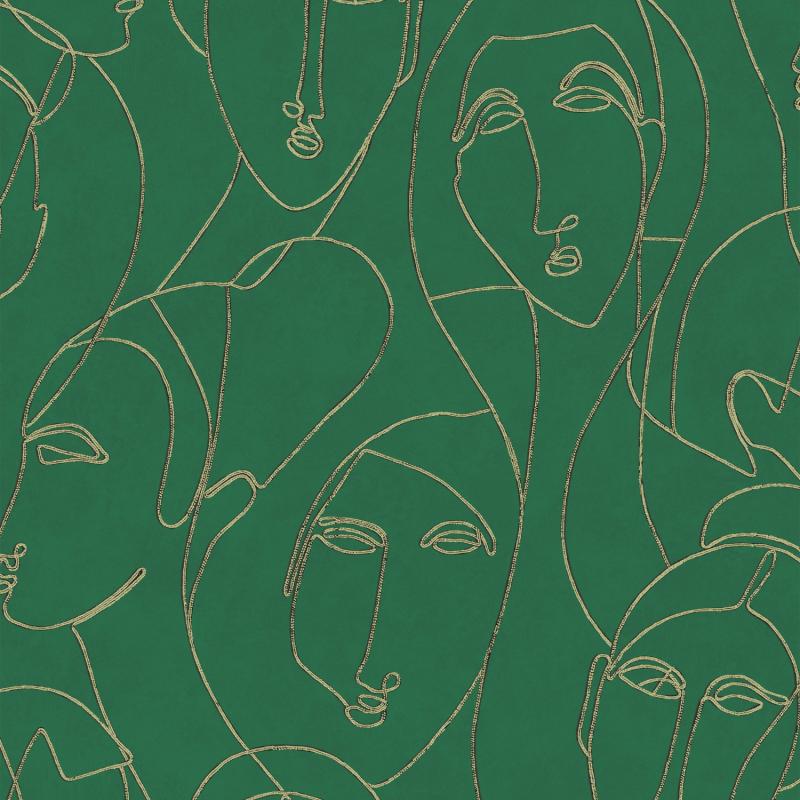Papier peint Nefertiti Amazon - AGATHE - Khrôma by Masureel - AGA505