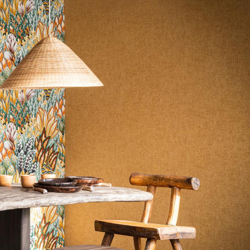 Papier peint Diola ocre - KARABANE - Casamance - 75151222
