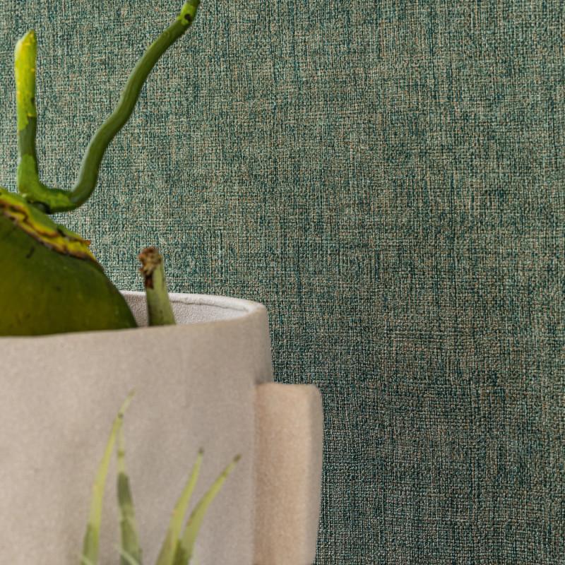 Papier peint Diola vert anglais - KARABANE - Casamance - 75152140