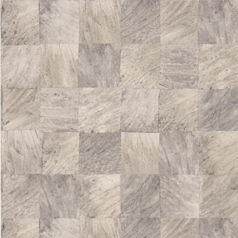 Papier peint Abalé gris cendre - KARABANE - Casamance - 75173062