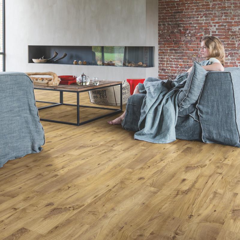 """Lame PVC clipsable """"Châtaignier vintage naturel AVSP40029"""" - Alpha Vinyl Small Planks QUICK STEP"""