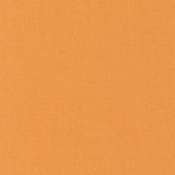 Papier peint Linen uni orange moyen - AU BISTROT D'ALICE - Caselio - BIS68523187