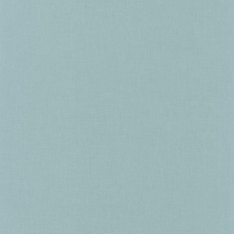 Papier peint Linen Uni teal blue - ONLY BLUE - Caselio - ONB68526066