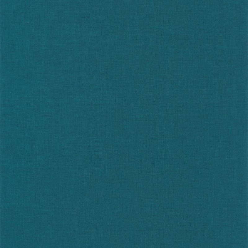 Papier peint Linen Uni smoke blue - ONLY BLUE - Caselio - ONB68526163