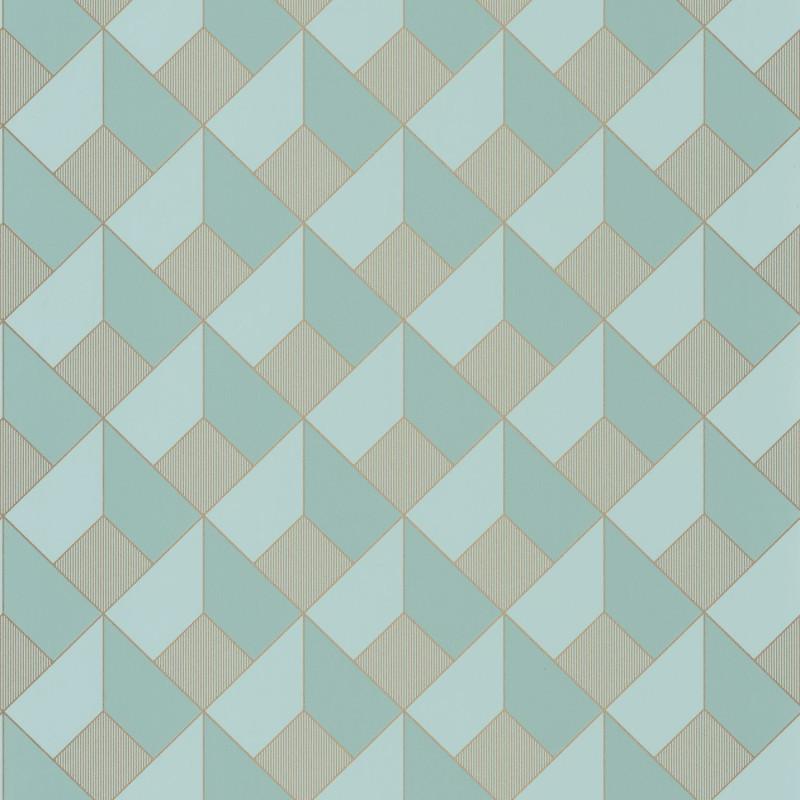 Papier peint Square smoke blue doré - ONLY BLUE - Caselio - ONB100126120