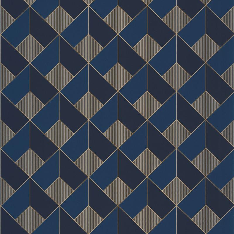 Papier peint Square midnight blue doré - ONLY BLUE - Caselio - ONB100126328