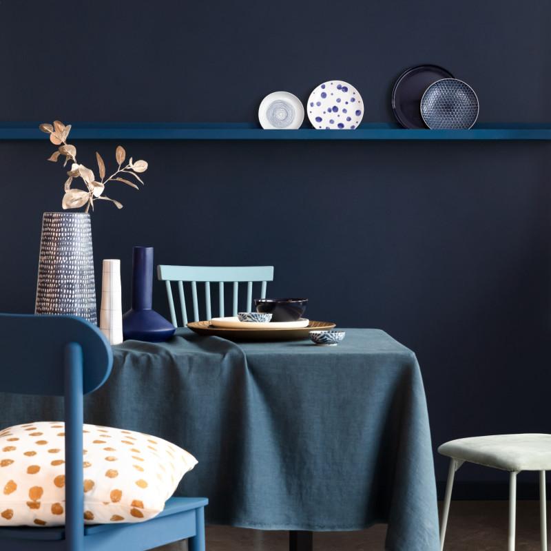 Papier peint Hygge Uni bleu nuit - ONLY BLUE - Caselio - ONB100606919