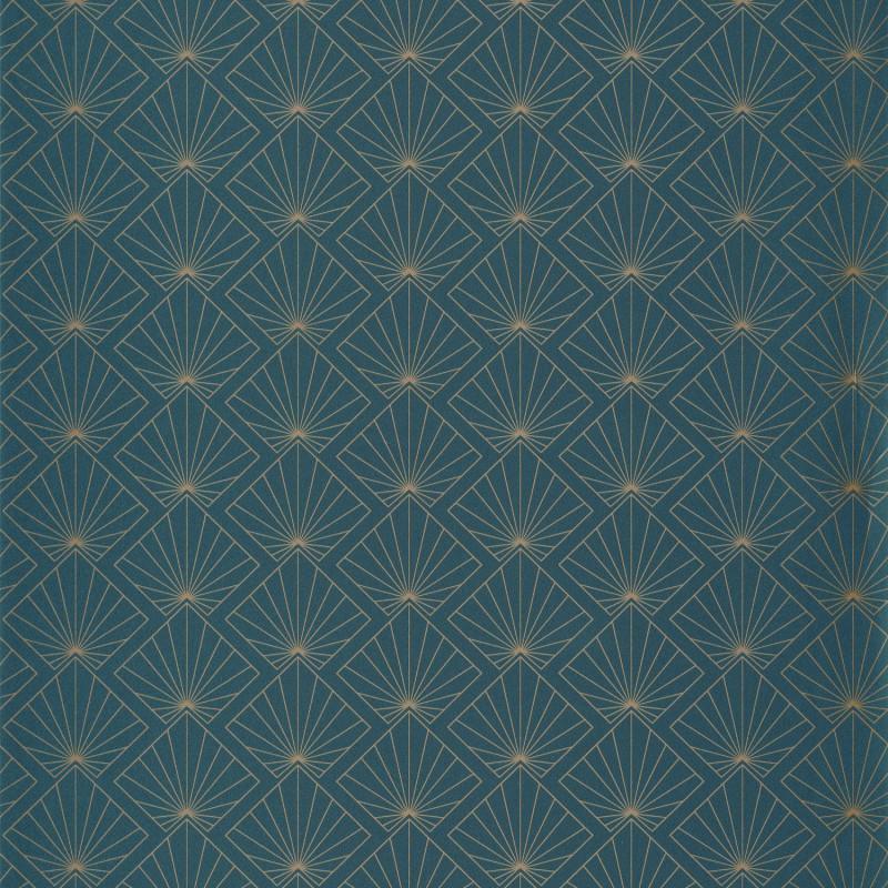 Papier peint Sunrise teal blue doré - ONLY BLUE - Caselio - ONB101236100