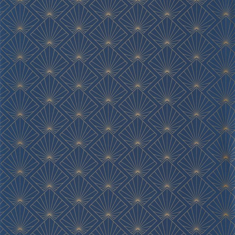 Papier peint Sunrise midnight blue doré - ONLY BLUE - Caselio - ONB101236221